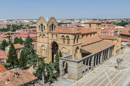 castile leon: Basilica of San Vicente in the city of Avila de los Caballeros, Avila, Castile and Leon, Spain