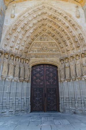 castile: North door in Avila Cathedral. Avila, Castile and Leon, Spain