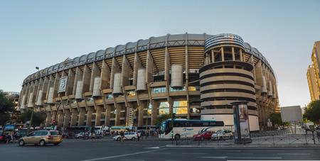 castellana: MADRID, SPAIN - JULY 28: Santiago Bernabeu Stadium on July 28, 2015 in Madrid, Spain. Santiago Bernabeu Stadium is the headquarters of Real Madrid C.F.