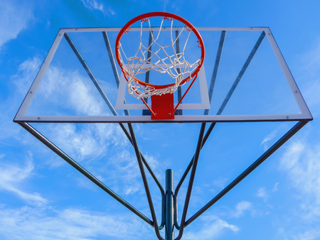 the view from below: Transparent basketball hoop as view from below