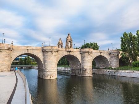 Puente de Toledo over river Manzanares. Madrid, Spain