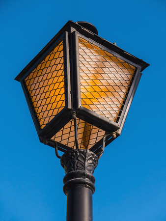 streetlamp: Old fashioned streetlamp over the sky. Streetlight