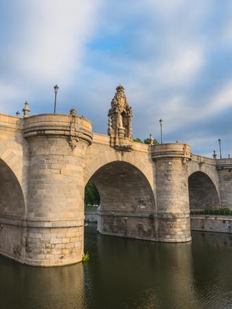 toledo: Bridge of Toledo over river Manzanares in Madrid, Spain. Puente de Toledo