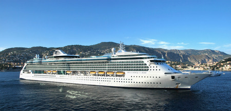 seas: VILLEFRANCHE, FRANCE - SEPTEMBER 5: Cruise ship Brilliance of the Seas of Royal Caribbean International moored in Villefranche port on September 5, 2011 in Villefranche, France.