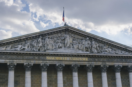 Assemblee Nationale. National assembly in the city of Paris, France. Stock Photo