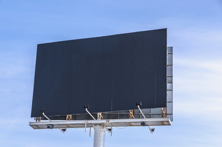 advertising: Advertisement panel in black. Cleared for customize your own ad