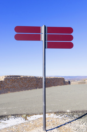 cleared: Signpost. Cleared signpost. Choice and decision concept Stock Photo