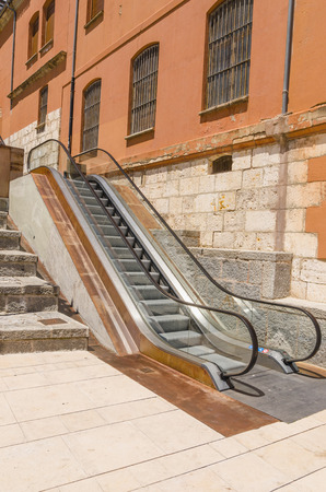 public transfer: Urban mechanic staircase in the city of Burgos. Spain