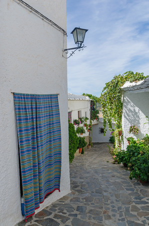 granada: Typical street in Bubion, Granada, Andalusia, Spain