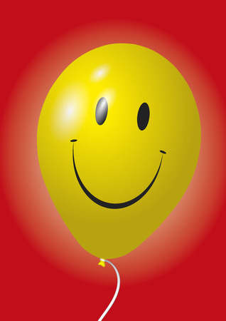 baloon: A happy and smiling yellow baloon