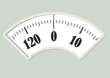 weight control: Bath scale dial. Measurement instrument for a diet control