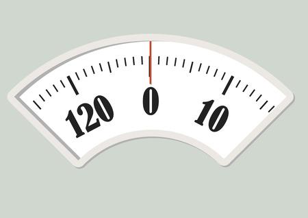 Wanna pokrętło skali. przyrząd pomiarowy do kontroli diety Ilustracje wektorowe