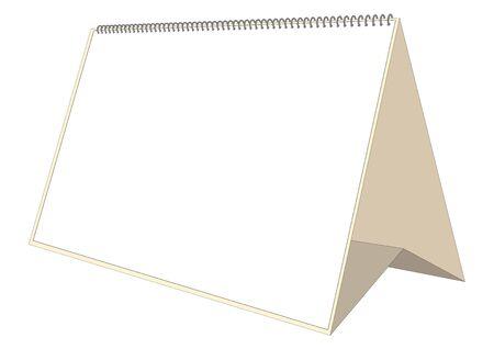 desk calendar: Desk calendar mockup. Montly planner. Vector file