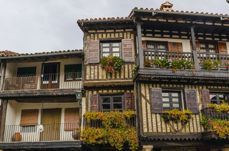 typical: Typical architecture in La Alberca, Salamanca, Castile and Leon, Spain