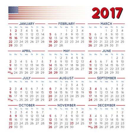 may calendar: 2017 elegant squared calendar with USA festive days. Year 2017 calendar. Calendar 2017. File easy to edit and apply.