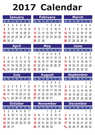 calendario julio: 2017 calendario. Calendario de vector simple para el año 2017.