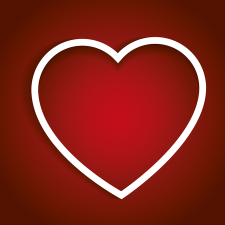 february 14th: Valentines heart in red. Valentines day, love concept. Love symbol for a valentines greeting card