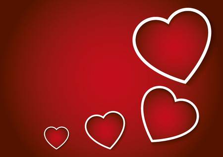 february 14th: Some hearts in red. Valentines day, love concept. Valentines greeting card