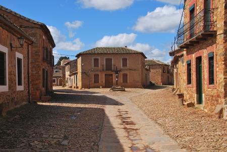 castile leon: Typical streets in Castrillo de los Polvazares. Leon. Castile and Leon. Spain. Camino de Santiago