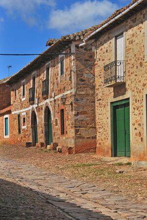 camino: Typical streets in Castrillo de los Polvazares. Leon. Castile and Leon. Spain. Camino de Santiago