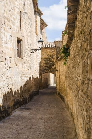 passageway: Baeza, stone buildings with passageway and arch. Jaen, Andalusia, Spain
