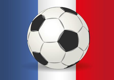 uefa: European Championship. Soccer ball on a france flag