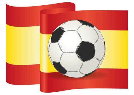 european championship: European Championship. Soccer ball on spain flag