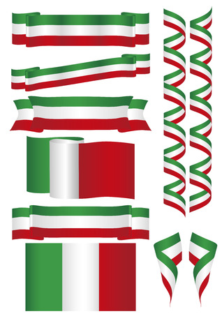 drapeau mexicain: Mexico. United states of Mexico. Some flags and banners with mexican flag colors