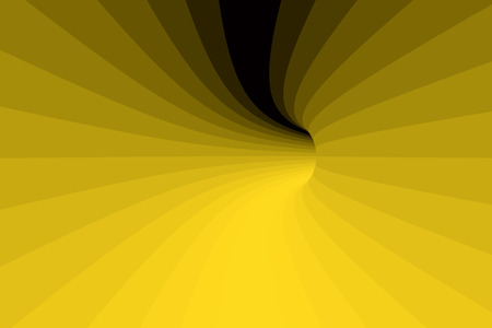 vehicle track: Detail on the hole of a tunnel in yellow. 3d illustration. 3d rendering Stock Photo