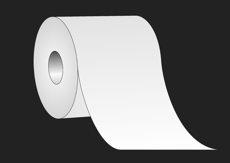 rolled up: Toilet paper roll over a black background