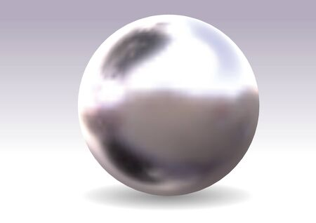 appearance: shiny ball with metal polished appearance, realistic vector illustration. Illustration