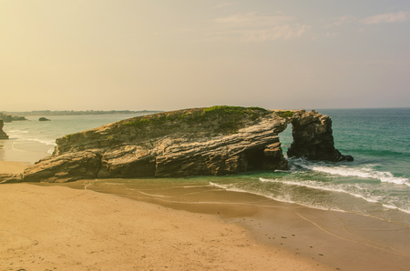 cantabrian: Playa de las catedrales. Typical view without people. Ribadeo, Lugo, Galicia, Spain