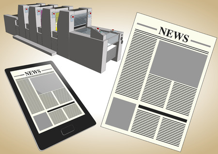 journalism: Newspaper published in two formats: electronically and paper printed. New journalism and media metaphor