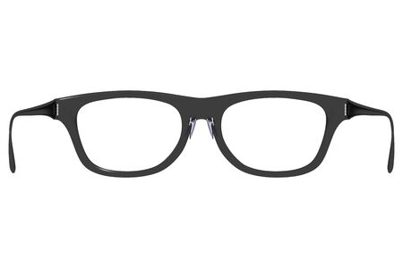 bifocals: Rear view of a pair of elegant black eyeglasses isolated on white. hipster retro fashion glasses. 3d render, 3d illustration