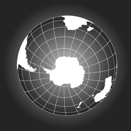 Antarctica and South Pole map. Antarctica, Australia, America, Africa. Earth globe. Worldmap. Elements of this image furnished by NASA