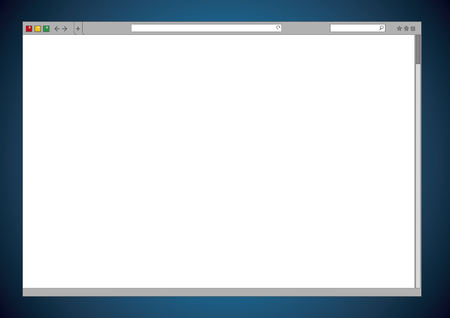 blank internet web browser window cleared vector template of
