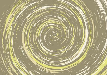 Fundo abstrato espiral hipnótico em tons castanhos e amarelos. Redemoinho. Vertigem, tonturas. Papel de parede do vetor