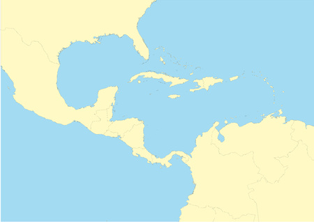 Very detailed map of Central America. File easy to edit and apply. Illustration