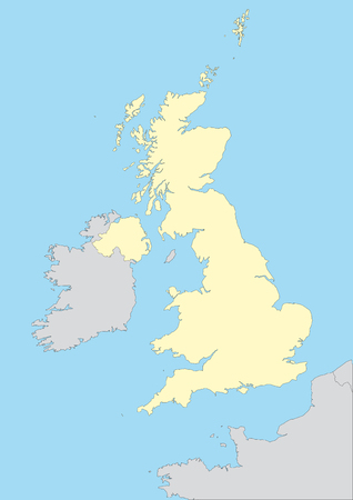 belfast: Vector map of the united kingdom. Easy to edit and apply. Illustration