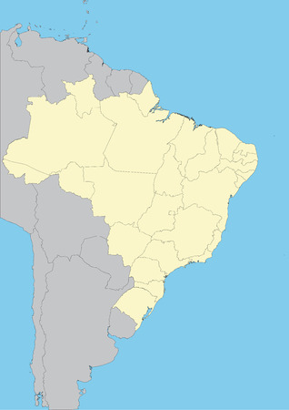 High detailed vector map of Brazil. File easy to edit and apply. Elements of this image furnished by NASA