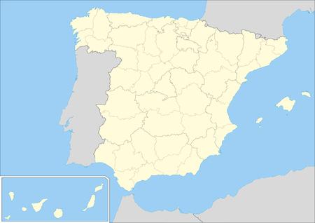 Carte vectorielle de l'Espagne avec les provinces et les communautés autonomes. Éléments de cette image fournis par la NASA.