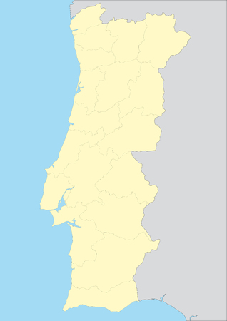 iberian: Vector map of portugal with provinces. Easy to use and apply. Elements of this image furnished by NASA