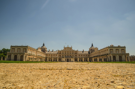 joaquin: front view of Royal Palace of Aranjuez in Aranjuez, Madrid, Spain