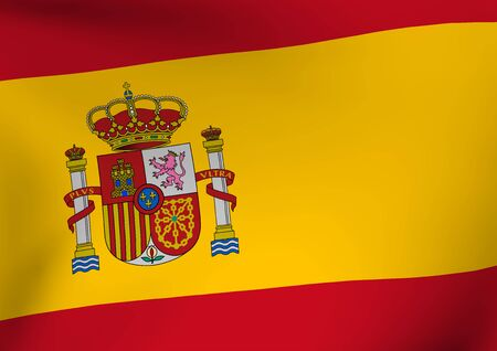 Spain flag illustration.