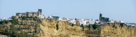 Panoramic view of Arcos de la frontera, typical town of white towns in Cadiz province, Andalusia, Spain