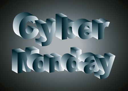 cyber monday online sales over a black and bluebackground