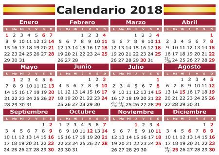 Calendar Days Of The Week In Spanish.446 Calendario Cliparts Stock Vector And Royalty Free Calendario