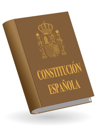 Constitucion espanola. Hiszpańska książka konstytucyjna. Ilustracji wektorowych