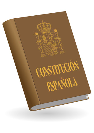 Constitucion espanola. Spanish constitution book. Vector illustration Çizim