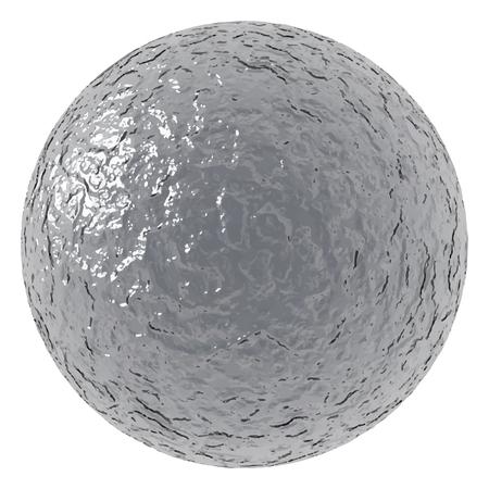 メタリックな質感のラフボール。ベクトルイラスト